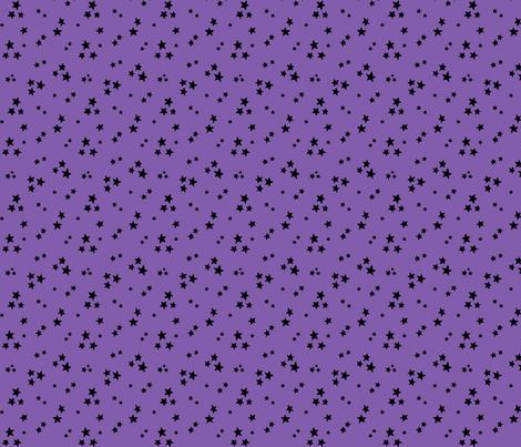 starry black on purple » halloween stars fabric by misstiina on Spoonflower - custom fabric