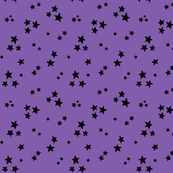 starry black on purple » halloween stars