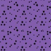 starry black on purple » halloween stars