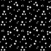 starry white on black » halloween - monochrome - black and white stars
