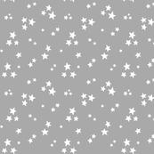 starry white on light slate grey » halloween - monochrome stars