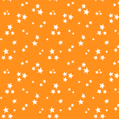 starry white on orange » halloween stars