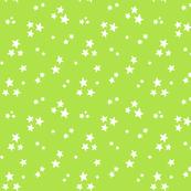 starry white on lime green » halloween stars