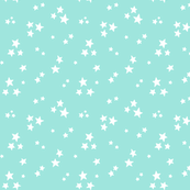 starry white on light baby teal blue » halloween stars