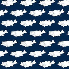 largemouth // navy