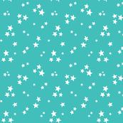starry white on teal blue » halloween stars
