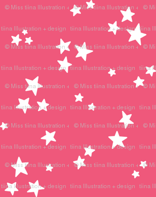 starry white on hot pink » halloween stars