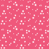 starry white on hot pink » halloween stars