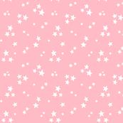 starry white on light baby pink » halloween stars