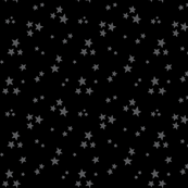 starry dark grey on black » halloween - monochrome stars