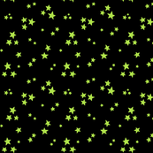 starry lime green on black » halloween stars