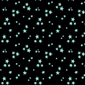 starry light baby teal blue on black » halloween stars
