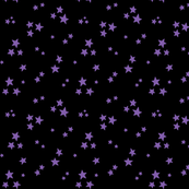 starry purple on black » halloween stars
