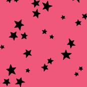 starry LG black on hot pink » halloween stars