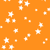 starry LG white on orange » halloween stars