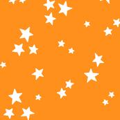 starry LG white on orange » halloween stars