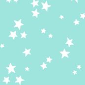 starry LG white on light baby teal blue » halloween stars
