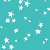 starry LG white on teal blue » halloween stars