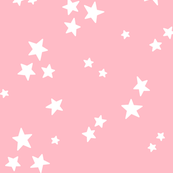 starry LG white on light baby pink » halloween stars