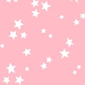 starry LG white on light baby pink » halloween stars