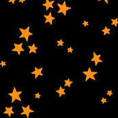 starry LG orange on black » halloween stars