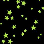 starry LG lime green on black » halloween stars