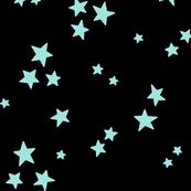 starry LG light baby teal blue on black » halloween stars