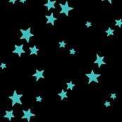 starry LG teal blue on black » halloween stars
