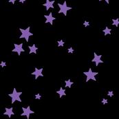 starry LG purple on black » halloween stars