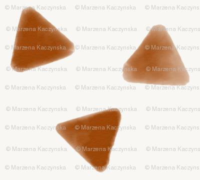 Watercolor triangles - rusty orange rusty red geometric