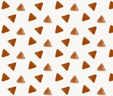 Watercolor triangles - rusty orange rusty red geometric  fabric by sunny_afternoon on Spoonflower - custom fabric