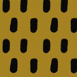 Watercolor strokes - hand drawn strokes mustard golden black