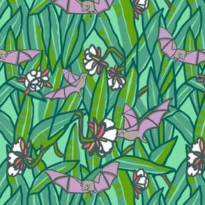 bat + night bloom cactus [dew + asparagus]