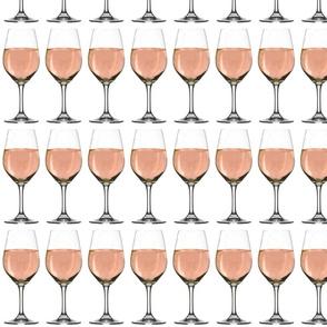 Rosé wine glass pattern