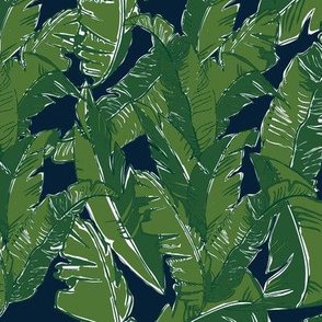 Leaves Bananique in Atlantic Navy - Small Scale