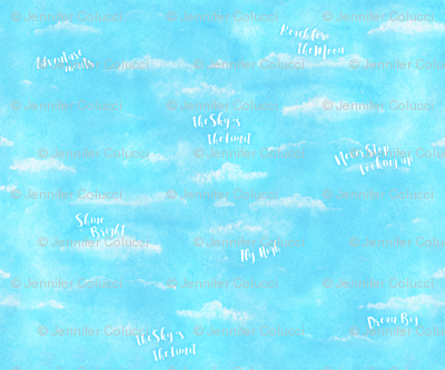 Skys The Limit Quotes On Blue Sky Giftwrap Jennifercolucci