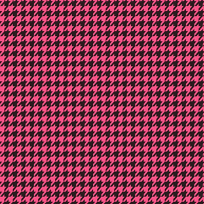 Houndstooth Pink and Black - Small
