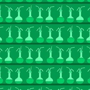 Lines of Laboratory Flasks