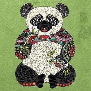 Panda on Jade