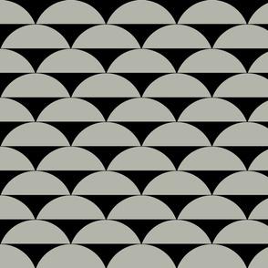 Mod Grey & Black print