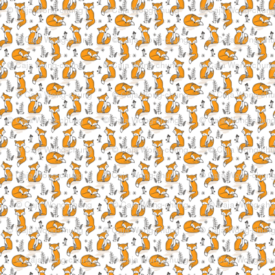 Dreamy Fox in Orange Tiny Small
