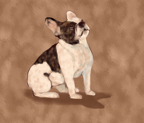 Paint me Like a French Bulldog 3 for Pillow fabric by eclectic_house on Spoonflower - custom fabric