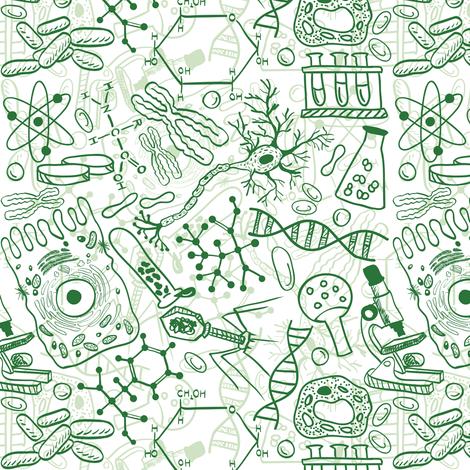 Germ Science fabric by pinkpineappledesign on Spoonflower - custom fabric