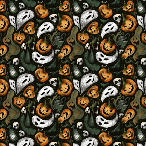 Happy halloween, small revision fabric by daria_nokso on Spoonflower - custom fabric