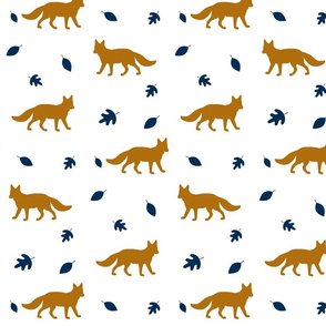 Autumn Fox // burnt orange & navy