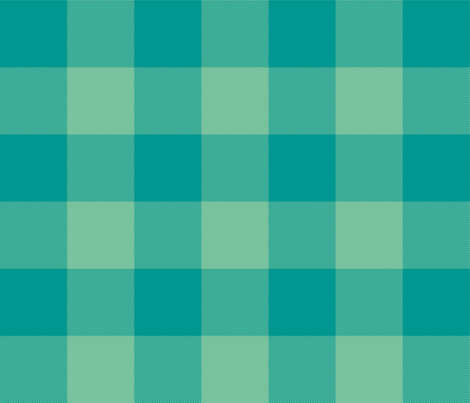 large lagoon check - teal and green fabric by weavingmajor on Spoonflower - custom fabric