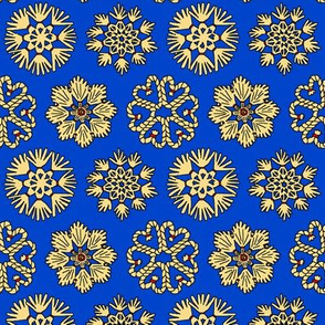 Straw Star Ornaments on Blue
