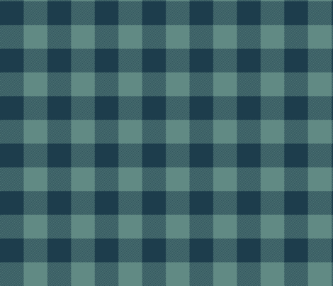 "1.5"" parka check - navy and slate fabric by weavingmajor on Spoonflower - custom fabric"