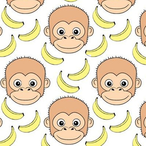 monkey-face-and-bananas-on-white