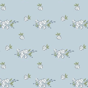 Ditsy Floral - Light Blue